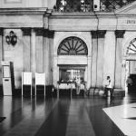Barcelona_train station / bahnhof / black & white