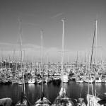 Barcelona_hafen / black & white